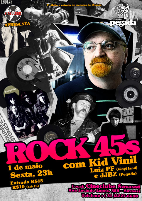 Rock 45s com Kid Vinil, 1/5