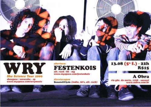 flyer show festenkois+wry